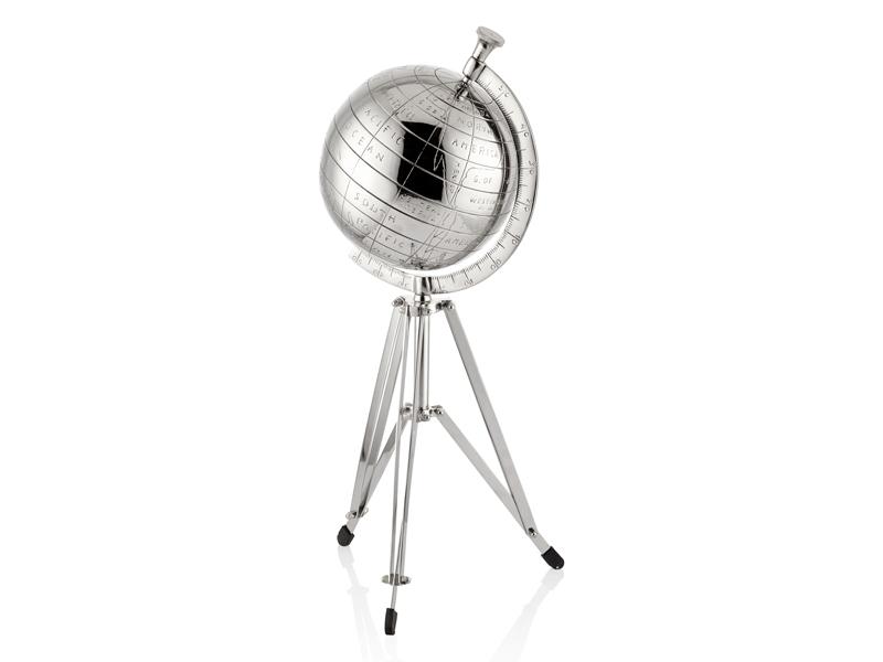 Globe Silver Dünya Dekoratifi