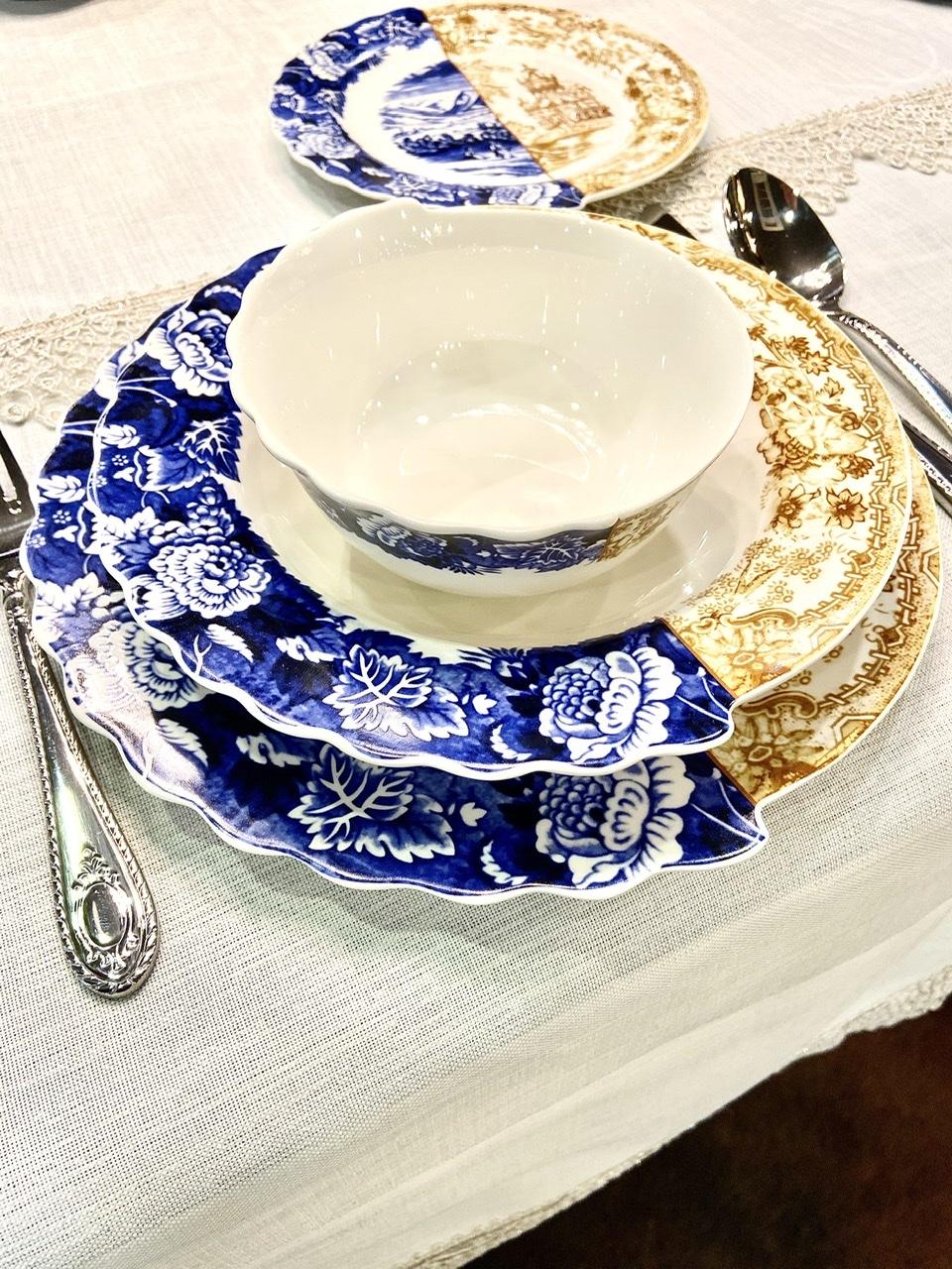 Hybrid Blue Dinner 24 Parça Yemek Takımı