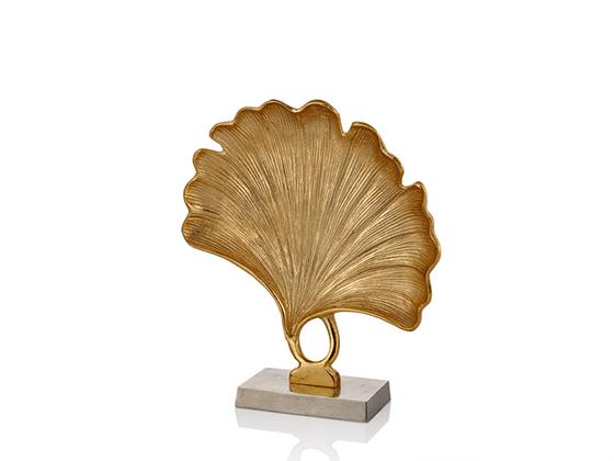 Gıngko Yapraklı Gold Dekoratif Obje