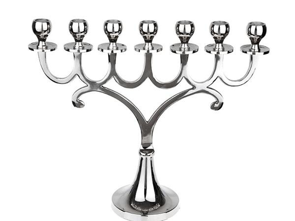 Gümüş 7Li Şamdan 42X35 Cm
